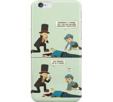 Professor Layton Comic Strip iPhone Case/Skin