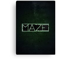 The Darkest Puzzle - The Maze Runner Canvas Print