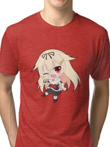 Yuudachi Chibi Tri-blend T-Shirt