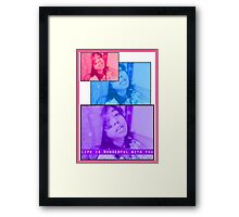 Life is Wonderful Framed Print