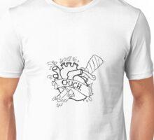 'Ouch' Dagger Heart Unisex T-Shirt