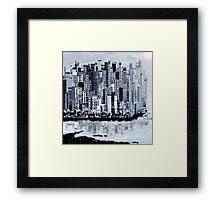 Brush City Framed Print
