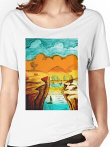 Hand Drawn Landscape Women's Relaxed Fit T-Shirt