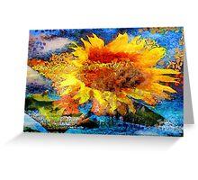 Textured orange  Sunflower Greeting Card