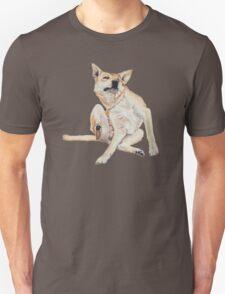 Cute funny germman shepherd cross breed dog scratching art  Unisex T-Shirt