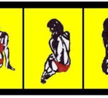 strip-tease techno colour Sticker
