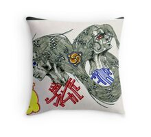 Blood or bust  Throw Pillow