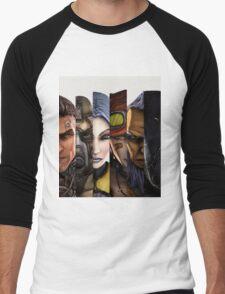 BOrderlands 2 Characters =2 Men's Baseball ¾ T-Shirt