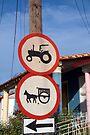 Hand painted road signs, Vinales, Cuba by David Carton