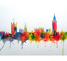 Westminster And Big Ben Skyline Photographic Print