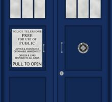 Doctor Who's Tardis Sticker