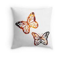 Burning Butterflies Throw Pillow