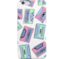 Colourful Vintage Cassette Tape Pattern  iPhone Case/Skin