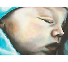 Child Sleeping with Blanket Photographic Print