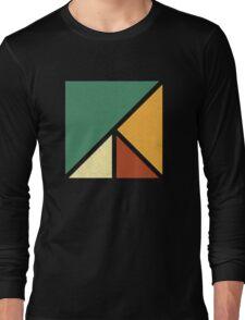 Colourful, Simple Geometric Design Long Sleeve T-Shirt