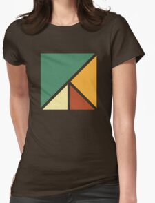 Colourful, Simple Geometric Design Womens Fitted T-Shirt