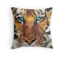 Wild-Eyed Tiger Land Throw Pillow