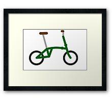 Folding bike Framed Print