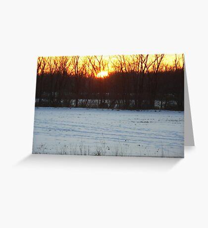 Beautiful sunset photo Greeting Card