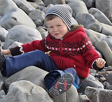 My Boy on his Bum, Kerry, Ireland by Pat Herlihy