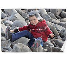My Boy on his Bum, Kerry, Ireland Poster