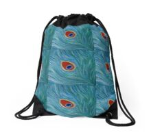 "Fine art. Abstract. Nature. ""Peacock feather"" Acrylic painting. Drawstring Bag"