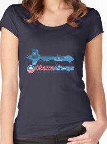 Obama Airways Women's Fitted Scoop T-Shirt