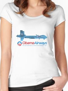 Obama Airways Women's Fitted Scoop T-Shirt