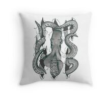 Der Krake Throw Pillow