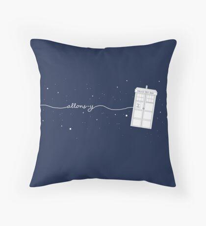 Allons-y Pillow! Throw Pillow