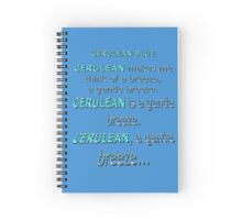 Cerulean Blue Spiral Notebook