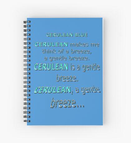 Cerulean Blue Spiral Notebook