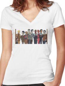 Morn & etc Women's Fitted V-Neck T-Shirt