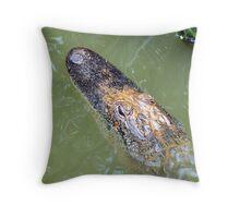 Laying in Wait - Sabine NWR Throw Pillow