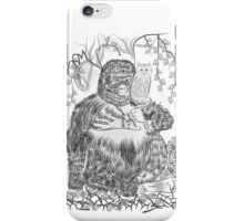 Jungle Gorilla and his Cat iPhone Case/Skin