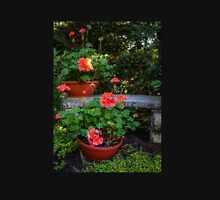 Geraniums and Bench Unisex T-Shirt