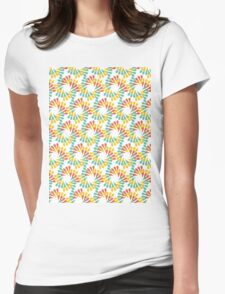 Abstract floral Pattern Womens Fitted T-Shirt