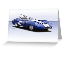 1959 Lister Costin Racecar Greeting Card