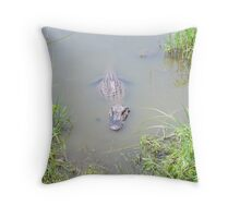 The Ultimate Lurker - Sabine NWR Throw Pillow