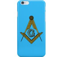 Freemason Square and Compass [001] iPhone Case/Skin