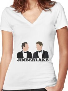 Jimberlake Women's Fitted V-Neck T-Shirt