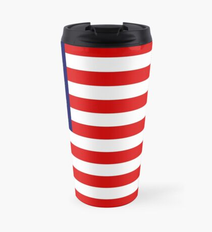 USA flag with hemp leaves Travel Mug