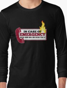 It Crowd Inspired - New Emergency Number - 0118 999 881 99 9119 725 3 - Moss and the Fire Long Sleeve T-Shirt