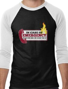 It Crowd Inspired - New Emergency Number - 0118 999 881 99 9119 725 3 - Moss and the Fire Men's Baseball ¾ T-Shirt