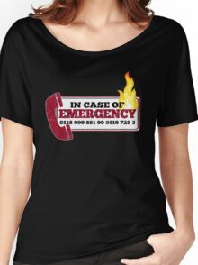 It Crowd Inspired - New Emergency Number - 0118 999 881 99 9119 725 3 - Moss and the Fire Women's Relaxed Fit T-Shirt