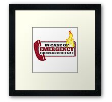 It Crowd Inspired - New Emergency Number - 0118 999 881 99 9119 725 3 - Moss and the Fire Framed Print