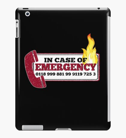 It Crowd Inspired - New Emergency Number - 0118 999 881 99 9119 725 3 - Moss and the Fire iPad Case/Skin