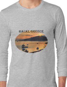Halki Sunrise (version 1) Long Sleeve T-Shirt