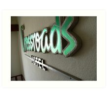 crossroads motel Art Print