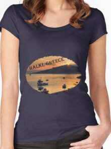 Halki Sunrise (version 2) Women's Fitted Scoop T-Shirt